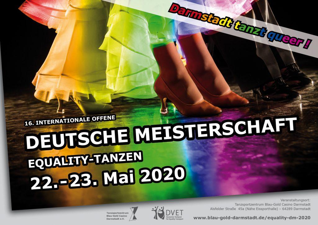 16. Internationale Offene Deutsche Meisterschaft Equality-Tanzen 22.-23. Mai 2020  Darmstadt tanzt queer!